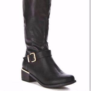 New! Alexis Harrison Mara Knee-High Black Boots 9